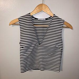 Zara Striped Crop Too